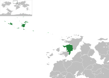 Location of Navack (green)