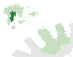Chetwynd (dark green) in Maltropia (light green)
