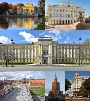 Clockwise from top-left: Palace of the Republic • Kravets Museum of Astronomy and Sciences • Kolisnyk Building • Hôtel de Sophia • CZAK-2 Tower • Olsov Square