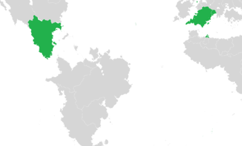 Members (green) of the Organization of Organization of Latin States.