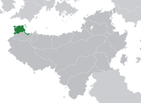 Location of Sydalon (dark green) – in Scipia (dark grey)