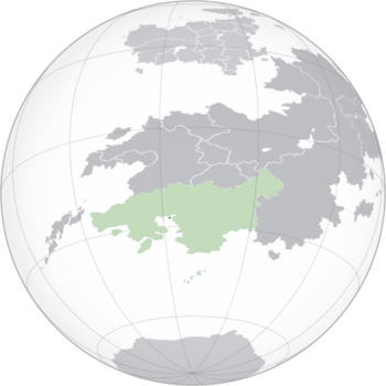 Location of Jindao (green) within Xiaodong (light green)