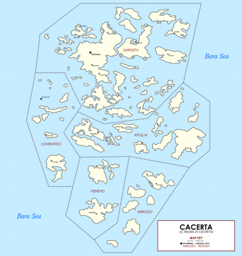 The Cacertian Home Islands