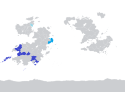 Map of COMSED members