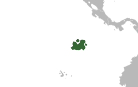 Location of Philimania (dark green) – in South America (grey)