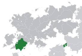 Location of Latium (dark green) – in Belisaria (dark grey) – in the Belisarian Community (light green)