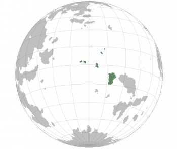 Location of Gallambria including the Gallambrian Adlantic Ocean Territory and the Ashford and Tarago Islands