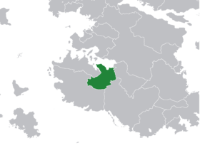Imperial Andamonia's territory immediately before dissolution