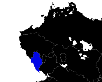 The State of Datchlia in relation to Northwest Meridon