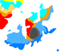 Koppen climate classification map of Orioni.png
