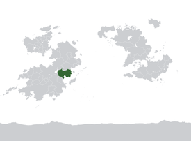 Location of Dezevau on Kylaris in dark green