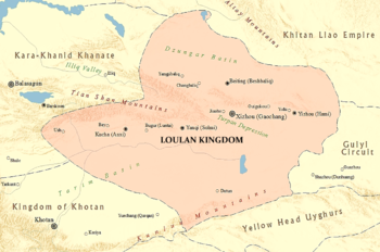 Location of Loulan