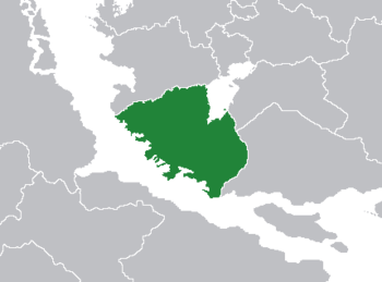 Location of Earent within southern Lorecia