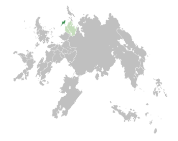 Location of  Alriika  (dark green) – in Erdara  (green & dark grey) – in the Erdaran Union  (green)