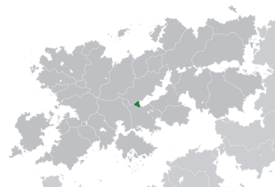 Location of Morinia-Polnitsa (dark green)– in Belisaria (dark grey)