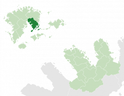 Soirláchan (dark green) in Maltropia (light green)