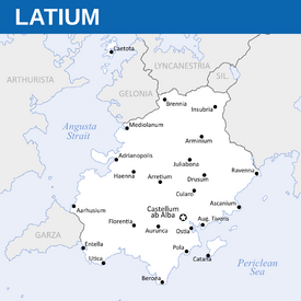 Political Map of Latium