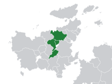 Location of the Mutual Assistance Organisation (dark green) in Euclea (grey).